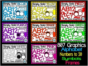 BUNDLE- SIMPLY SOLID-LETTERS, NUMBERS, SYMBOLS & FRAMES CL