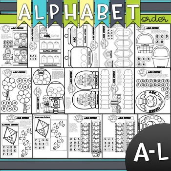ALPHABET ORDER A to Z for your INTERACTIVE NOTEBOOK {ABC ORDER}