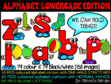 ALPHABET LETTER PEOPLE LOWER CASE CARTOON CLIP ART GRAPHICS