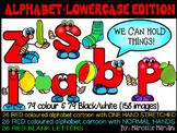 ALPHABET LETTERS CLIPART- ALPHABET PEOPLE LOWER CASE CARTOON CLIPART