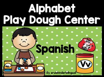 ALPHABET PLAY DOUGH CENTER in Spanish *KINDERGARTEN*