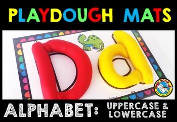 ALPHABET PLAYDOUGH MATS (UPPERCASE & LOWERCASE LETTERS) BEGINNING SOUNDS CENTER