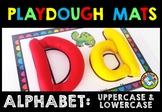 ALPHABET PLAYDOUGH MATS (UPPERCASE AND LOWERCASE LETTERS BEGINNING SOUNDS CENTER