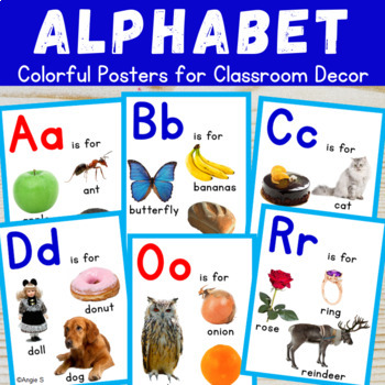 ALPHABET Posters with Real Life Photos for Classroom Decor