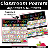 ALPHABET POSTERS A TO Z AND NUMBER POSTERS COUNTING Up to
