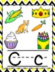 Chevron Bee Colors Alphabet Posters