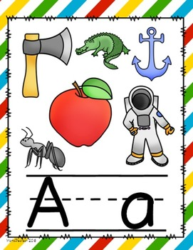 Diagonal Primary Colors Alphabet Posters
