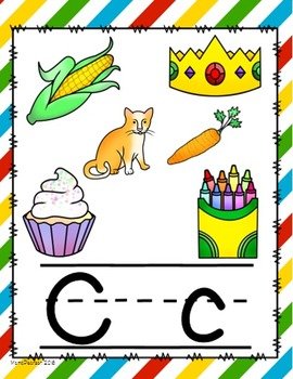 Diagonal Primary Colors Alphabet Posters