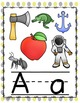 ALPHABET POSTERS: Dots Yellow and Gray Alphabet Posters