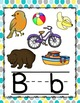 Dots Yellow, Gray, and Teal Alphabet Posters