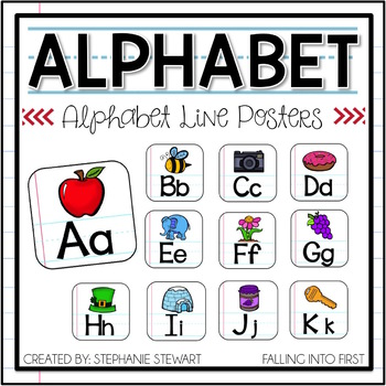ALPHABET POSTERS (Lined Paper)
