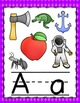 Purple Gingham Alphabet Posters
