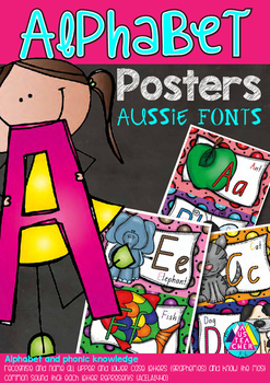 ALPHABET POSTERS - QLD, NSW, VIC, TAS, SA FONTS