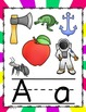 ALPHABET POSTERS: Spiral Bright Colors Alphabet Posters