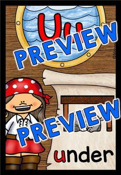ALPHABET POSTERS WITH A PIRATE THEME: BACK TO SCHOOL ALPHABET CARDS: ABC