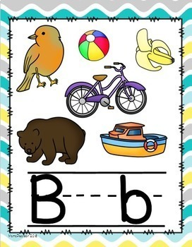 Yellow, Gray, and Blue Waves Alphabet Posters