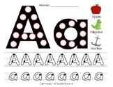 ALPHABET PRACTICE- Do-a-Dot and Tracing