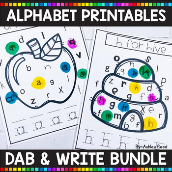 ALPHABET PRINTABLES | Dab and Write Letter Activity