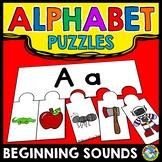KINDERGARTEN ALPHABET PUZZLES (BEGINNING SOUNDS SORT CENTER ACTIVITY)