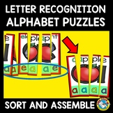 ALPHABET LETTER RECOGNITION ACTIVITIES KINDERGARTEN, PRESCHOOL PUZZLES CENTER