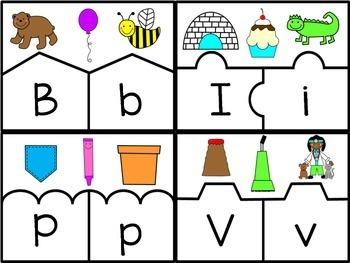 ALPHABET PUZZLES - phonics practice pre-k, kindergarten