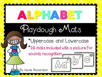 ALPHABET Playdough Mats!