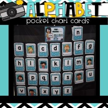 ALPHABET Pocket Chart CARDS {Letters & ABC Order}