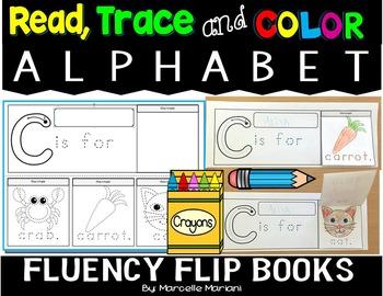 ALPHABET READ, TRACE AND COLOR FLUENCY FLIP BOOKS