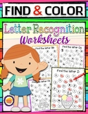 ALPHABET RECOGNITION WORKSHEETS PACK Distance Learning from home