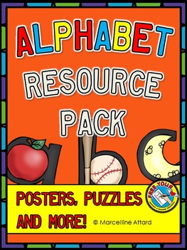 ALPHABET PACK: LETTER CARDS + GUIDELINES, PICTURES & JIGSAW PUZZLE GAME