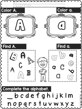 ALPHABET REVIEW- DISTANCE LEARNING