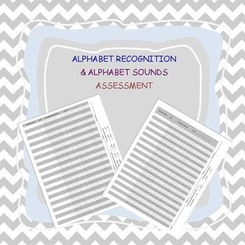 ALPHABET Recognition and Sounds ASSESSMENT - editable