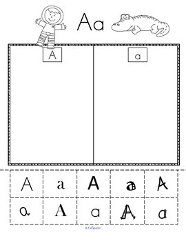 ALPHABET SORT Upper and Lower Case with Varying Fonts