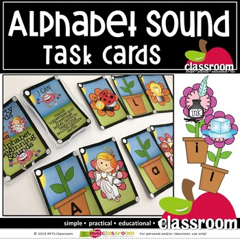 ALPHABET SOUNDS - SMARTY TASK CARDS
