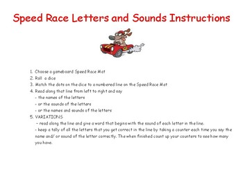 ALPHABET SPEED RACE LETTERS AND SOUNDS