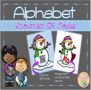 ALPHABET Snowman QR Codes