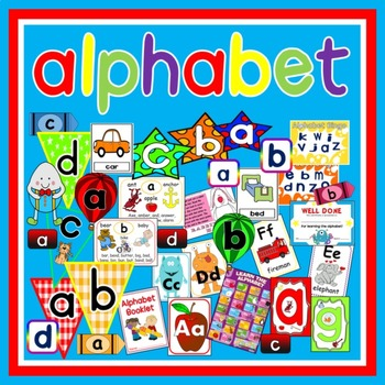ALPHABET TEACHING RESOURCES FLASHCARDS POSTERS ACTIVITIES LETTERS ABC
