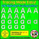 ALPHABET TRACING LETTERS- Correct Letter Formation Clip ar