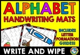 ALPHABET UPPERCASE LETTER TRACING WORKSHEETS OR MATS WRITE AND WIPE CARDS A-Z