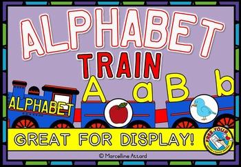 ALPHABET TRAIN DISPLAY: FUN ALPHABET POSTERS & WORD WALL HEADERS