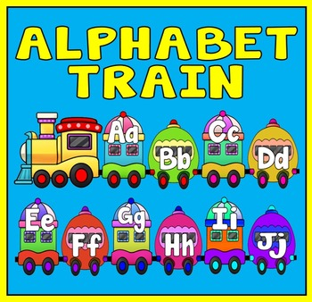 ALPHABET TRAIN - LETTERS, LITERACY, ENGLISH, EARLY YEARS, KEY STAGE 1