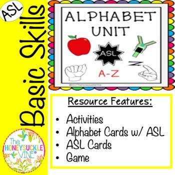 Alphabet Unit w/ ASL
