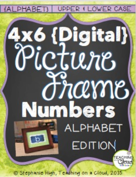 ALPHABET: UPPER AND LOWER CASE { Digital Picture Frame Sight Words 4X6 }
