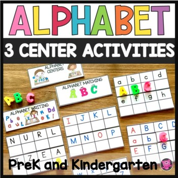Alphabet Activities and Centers Matching Upper and Lower Case Letters
