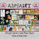 ALPHABET Virtual Library & Music Room - SEESAW & Google Slides