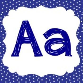 ALPHABET WALL LETTERS - BLUE