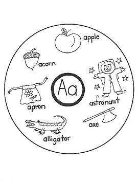 ALPHABET WORD CIRCLE MAPS for Early Learners (A-Z) BUNDLE