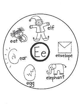 ALPHABET WORD CIRCLE MAPS for Early Learners (E-F-G-H)