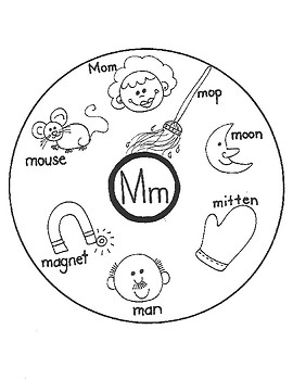 ALPHABET WORD CIRCLE MAPS for Early Learners (M-N-O-P)