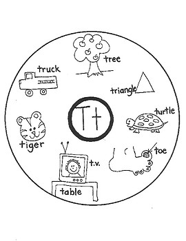 ALPHABET WORD CIRCLE MAPS for Early Learners (Q-R-S-T)